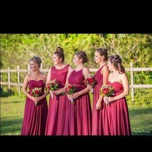 Azazie Dress Bonnie style Cabernet color